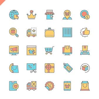 Płaska linia e-commerce