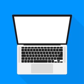 Płaska makieta laptopa do projektowania stron internetowych