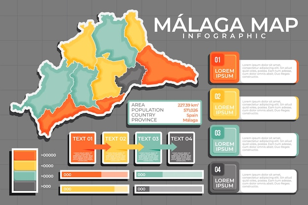 Płaska mapa malagi