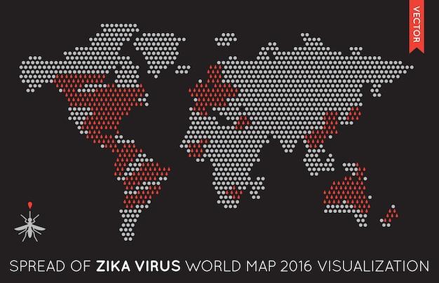 Płaska mapa świata infografika ilustracja