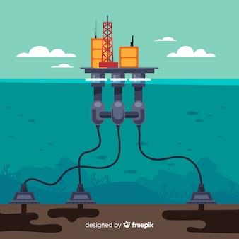 Płaska maszyna okrętowa