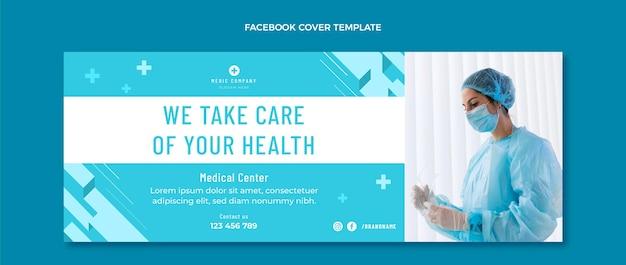 Płaska medyczna okładka na facebooku