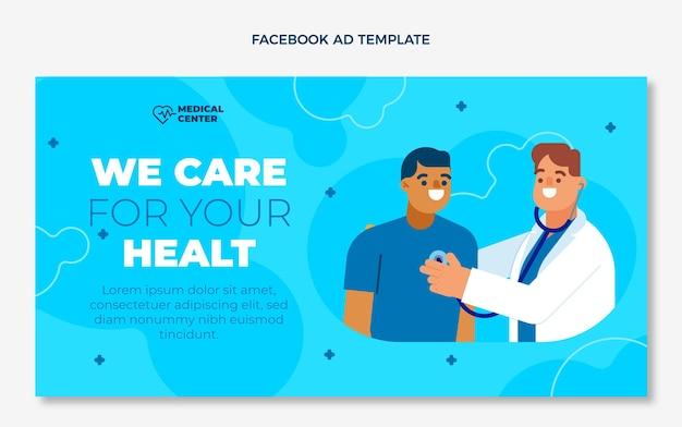 Płaska medyczna reklama na facebooku