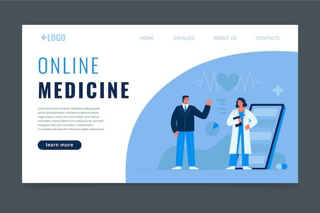 Płaska medyczna strona docelowa