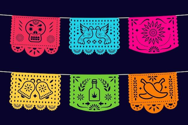 Płaska meksykańska dekoracja cinco de mayo