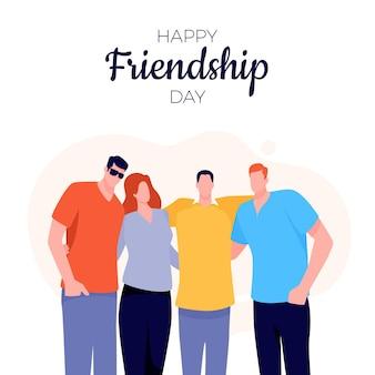 Płaska międzynarodowa ilustracja dzień przyjaźni