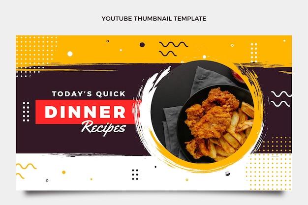 Płaska miniatura jedzenia youtube
