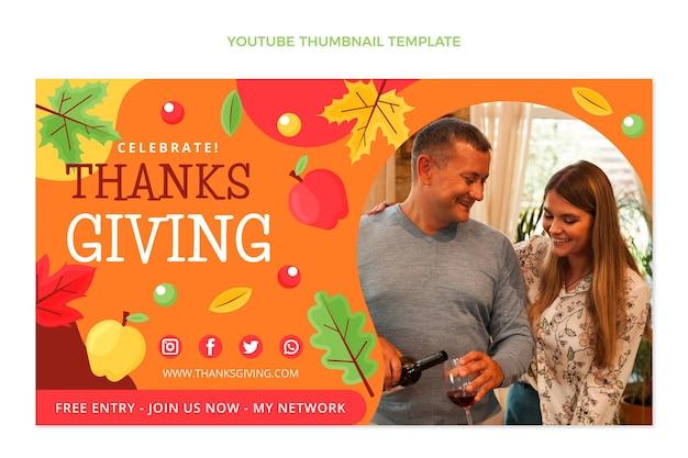 Płaska miniatura youtube na święto dziękczynienia