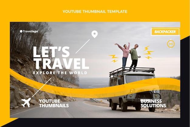 Płaska miniatura youtube podróży