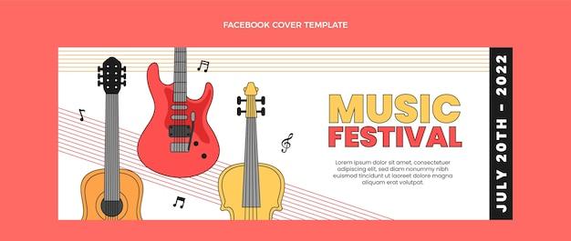 Płaska, minimalna okładka festiwalu muzycznego na facebooku