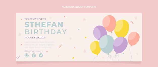 Płaska, minimalna okładka na facebooka na urodziny