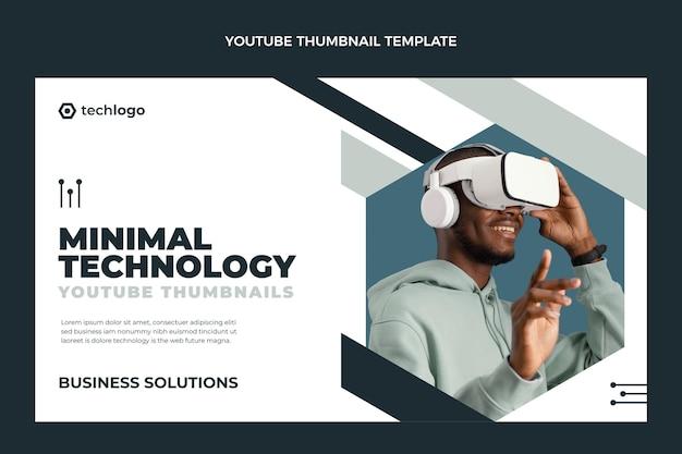 Płaska minimalna technologia miniatura youtube