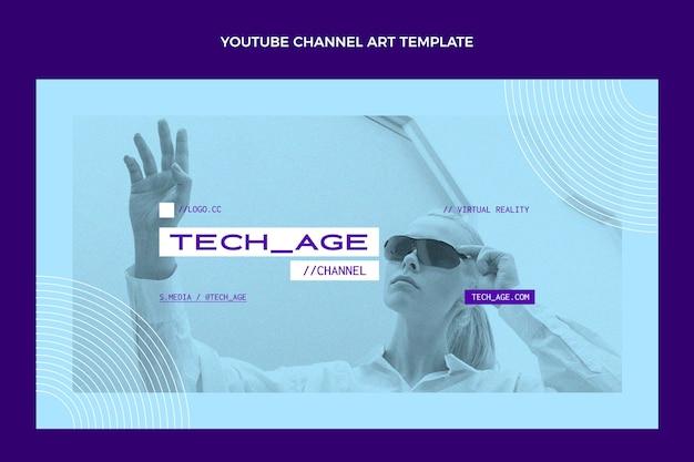 Płaska minimalna technologia sztuki kanału youtube