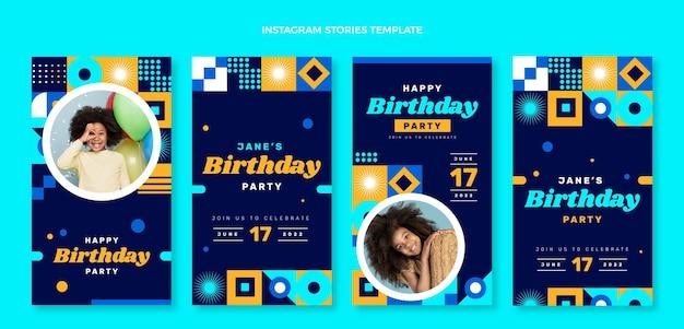 Płaska mozaika urodzinowa ig historie