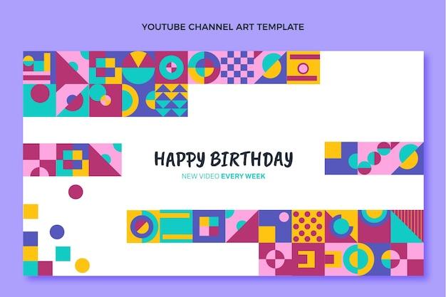Płaska mozaika urodzinowa kanał youtube