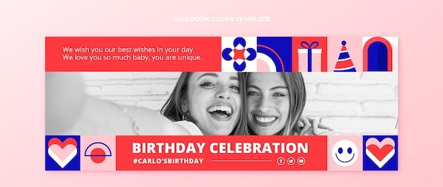 Płaska mozaika urodzinowa okładka na facebooku