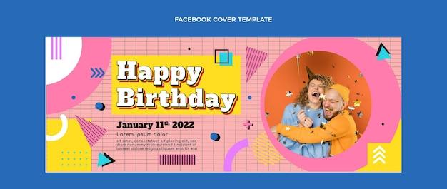 Płaska, nostalgiczna okładka na facebooka z lat 90.