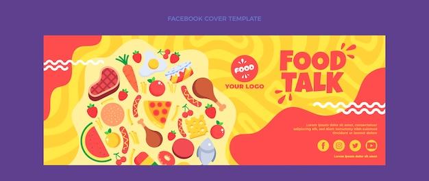 Płaska okładka facebooka z jedzeniem