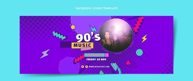 Płaska okładka festiwalu muzycznego z lat 90. na facebooku