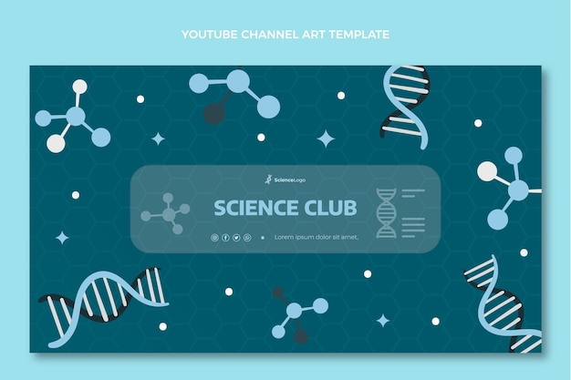 Płaska okładka kanału naukowego na youtube