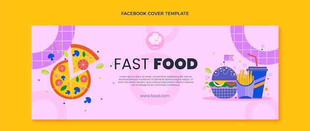 Płaska okładka na facebooku fast food