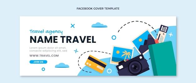 Płaska okładka podróżna na facebook