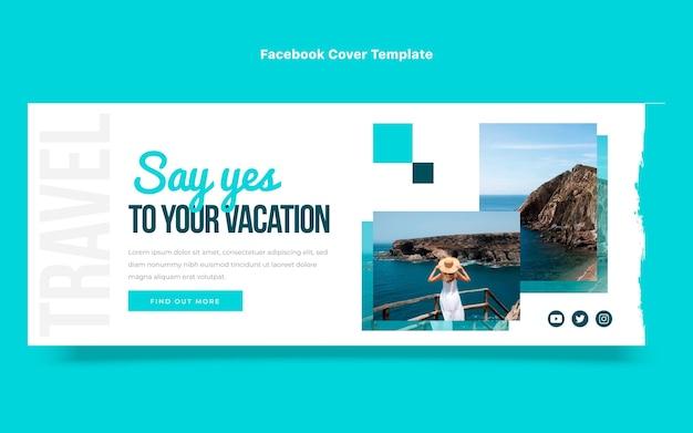 Płaska okładka podróżna na facebooka