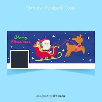 Płaska pokrywa bożonarodzeniowa na facebooku