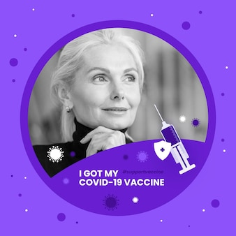 Płaska ramka na facebooka na koronawirusa