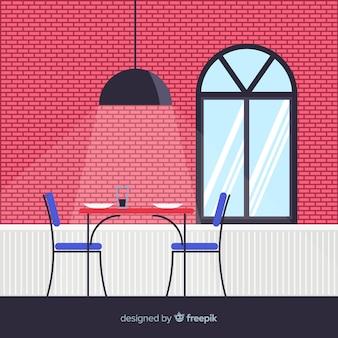 Płaska restauracja ilustracja