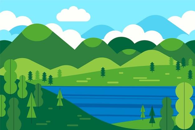 Płaska sceneria jeziora!