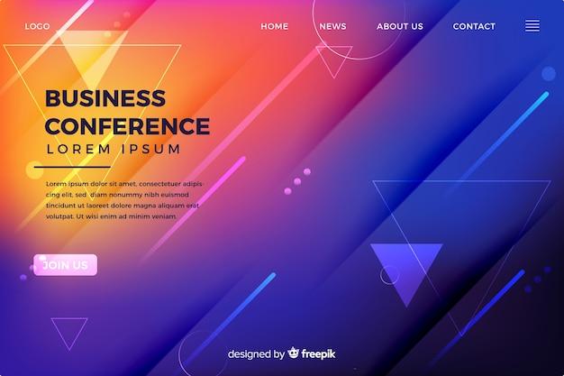 Płaska strona abstrakcyjna kształtów konferencji biznesowych