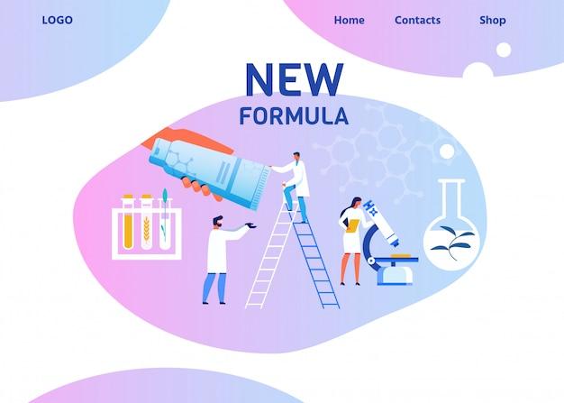 Płaska strona docelowa laboratorium naukowego kosmetycznego