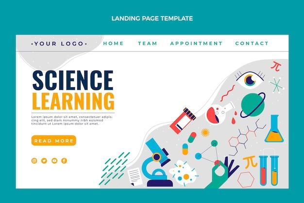 Płaska strona docelowa nauki