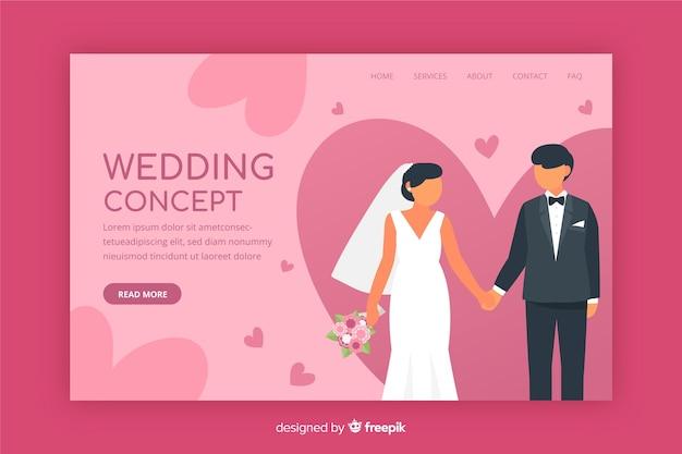 Płaska strona docelowa ślubu