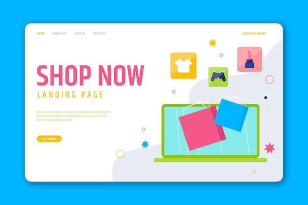 Płaska strona docelowa zakupy online