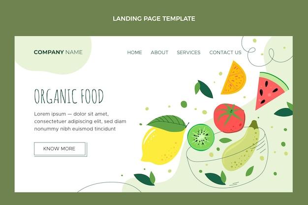 Płaska strona docelowa żywności ekologicznej