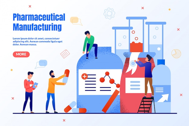 Płaska strona produkcji farmaceutycznej