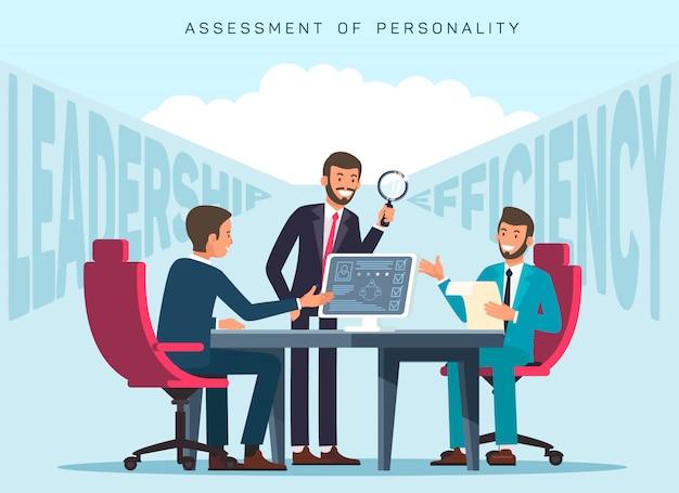 Płaska szablon transparent oceny efektywności pracowników
