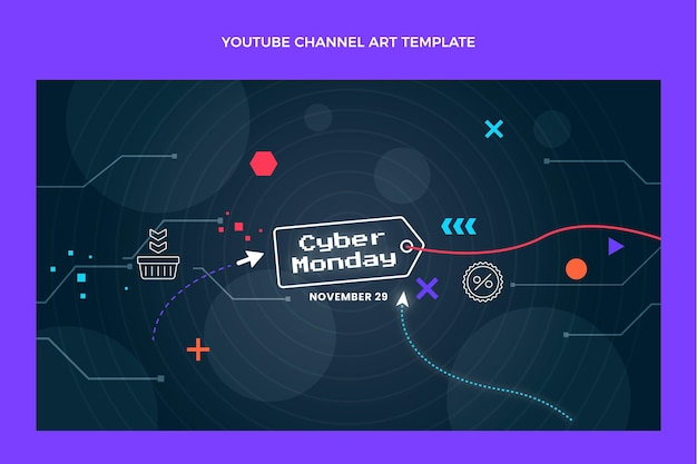 Płaska sztuka cyber poniedziałek kanału youtube