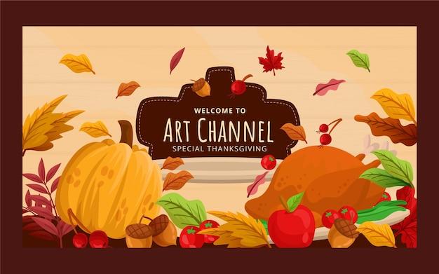 Płaska sztuka dziękczynienia kanału youtube