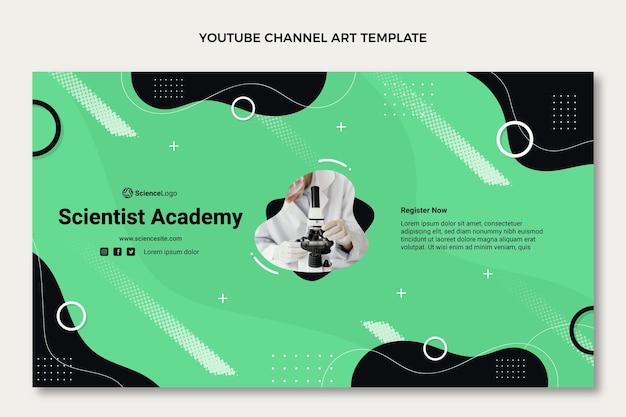 Płaska sztuka kanału naukowego na youtube