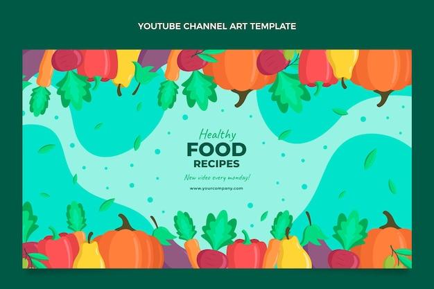 Płaska sztuka kanału youtube