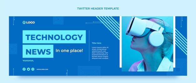 Płaska technologia nagłówka twittera