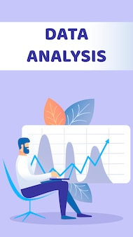 Płaska ulotka analizy danych