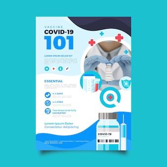 Płaska ulotka dotycząca szczepień przeciwko koronawirusowi
