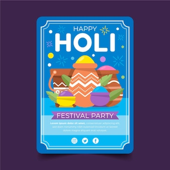 Płaska ulotka festiwalu holi