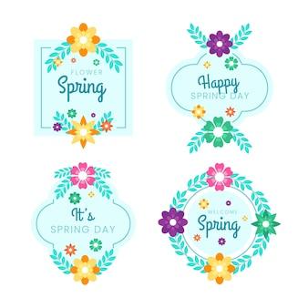 Płaska wiosenna kolekcja odznak