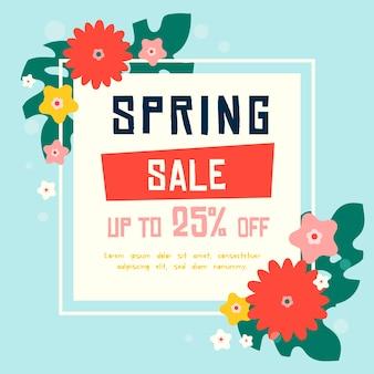 Płaska wiosenna wyprzedaż z kwitnącymi ofertami