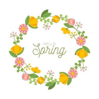 Płaska wiosna kwiatowy rama